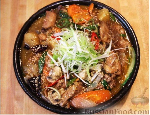 курица с овощами в желе рецепт с фото