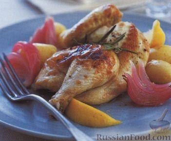 Рецепт Цыплята, запеченные с картофелем
