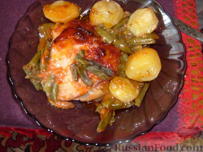 Рецепт Курица, запеченная в томатном соусе