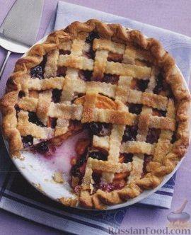 Рецепт Пирог из песочного теста с черникой и персиком