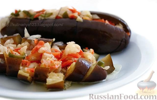 Рецепт Квашеные баклажаны с капустой