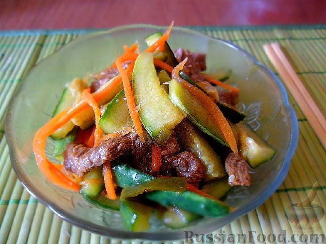 Рецепт Огурцы по-корейски (кимчи из огурцов или веча)