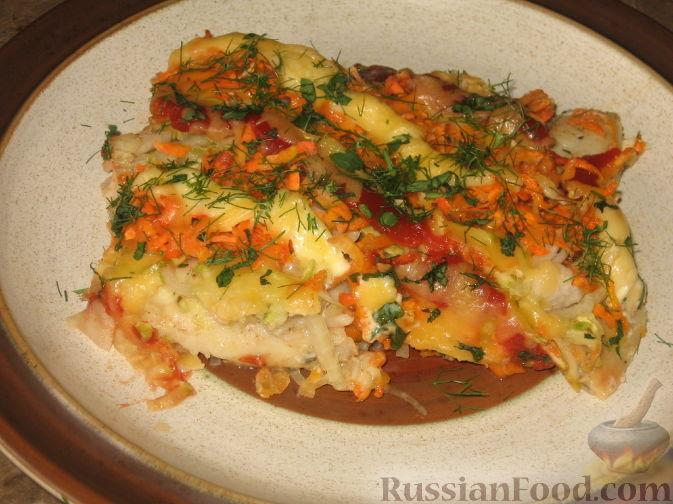 Рецепт Судак под овощами