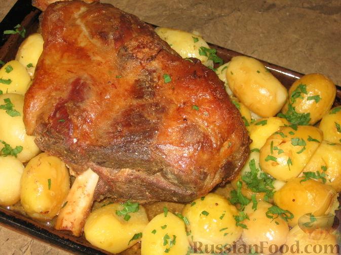 Баранина с картошкой в рукаве в духовке рецепт