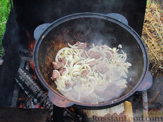 Фото приготовления рецепта: Шурпа под дождём :) - шаг №3