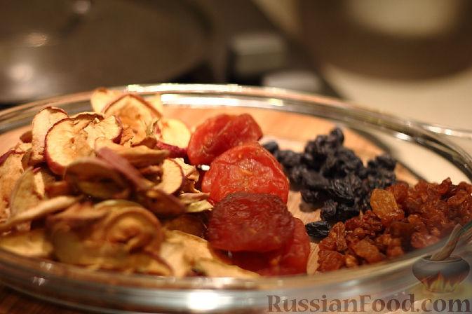 Рецепт Компот из сухофруктов и тыквы
