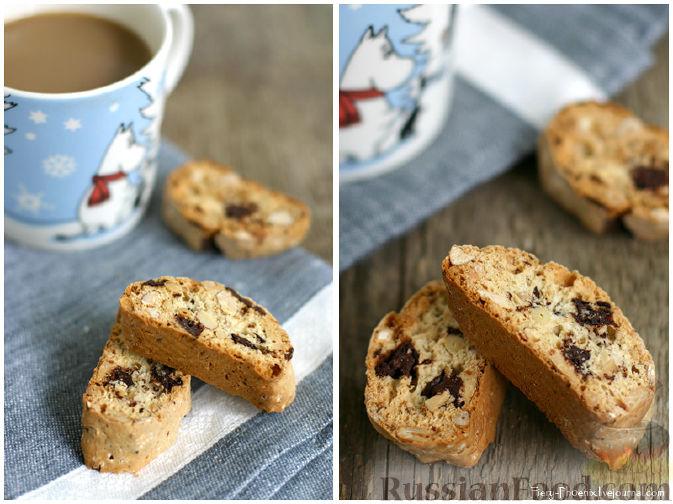 Рецепт Бискотти с шоколадом, миндалем и кедровыми орешками