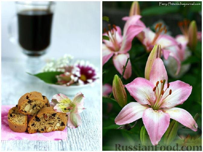 Рецепт Кофейные бискотти c шоколадом и миндалем