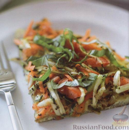 Рецепт Фриттата с цуккини и морковью