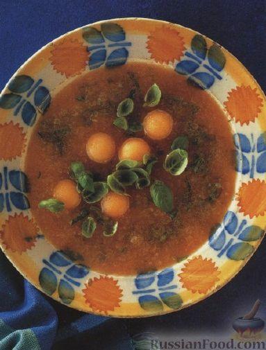 Рецепт Сладкий суп из дыни
