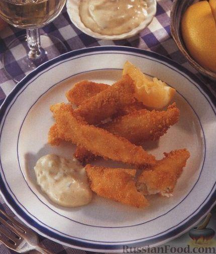 Рецепт Жареные рыбные палочки