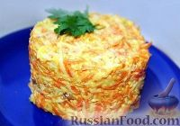 Фото к рецепту: Салат из морковки с сыром