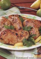 Фото к рецепту: Куриное филе, жаренное на гриле
