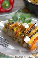Фото к рецепту: Рисовая запеканка с мясом и овощами