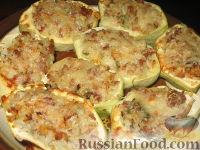 Фото к рецепту: Патиссоны, фаршированные рисом и мясом