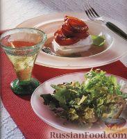 Фото к рецепту: Закуска с моцареллой и жареными помидорами