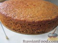Фото приготовления рецепта: Морковный торт (постный) - шаг №10