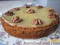 Фото приготовления рецепта: Морковный торт (постный) - шаг №12