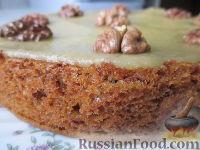 Фото приготовления рецепта: Морковный торт (постный) - шаг №13