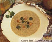 Фото к рецепту: Суп-пюре из кресс-салата и груши