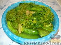 Фото к рецепту: Малосольные огурчики по бабушкиному рецепту