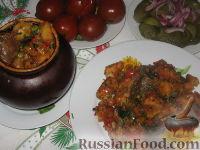 Фото к рецепту: Печень с овощами в горшочках