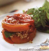 Фото к рецепту: Салат из болгарского перца и помидоров