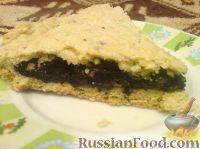 Фото к рецепту: Постный пирог с черникой