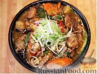 Фото приготовления рецепта: Дакжим (курица с овощами по-корейски) - шаг №9