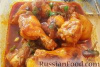 Фото к рецепту: Куриные крылышки по-корейски (Дакбоккымтан)