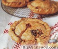 Фото к рецепту: Пироги из песочного теста с бараниной и овощами
