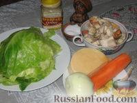 Фото приготовления рецепта: Пикантные капустные конвертики - шаг №1