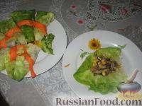 Фото приготовления рецепта: Пикантные капустные конвертики - шаг №4