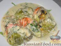 Фото приготовления рецепта: Пикантные капустные конвертики - шаг №9
