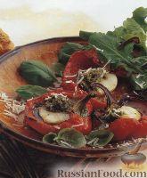 Фото к рецепту: Перец, запеченный с морскими гребешками