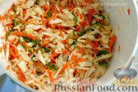 Фото приготовления рецепта: Квашеные баклажаны с капустой - шаг №3