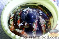 Фото приготовления рецепта: Квашеные баклажаны с капустой - шаг №8