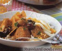 Фото к рецепту: Картофельное рагу с курятиной и свининой