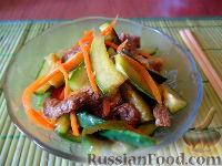 Фото к рецепту: Огурцы по-корейски (кимчи из огурцов или веча)