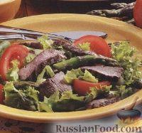 Фото к рецепту: Овощной салат с говяжьими стейками