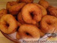 Фото к рецепту: Творожные бублики (пончики)