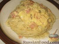 Фото к рецепту: Спагетти с соусом карбонара