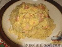 Фото приготовления рецепта: Спагетти с соусом карбонара - шаг №4
