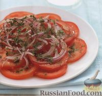 Фото к рецепту: Легкий салат из помидоров