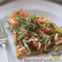 Фото к рецепту: Фриттата с цуккини и морковью