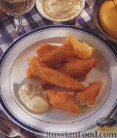 Фото к рецепту: Жареные рыбные палочки
