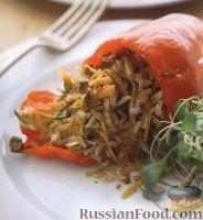 Фото к рецепту: Вегетарианский фаршированный перец