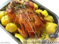 Фото к рецепту: Курочка с кабачками, картофелем и тимьяном