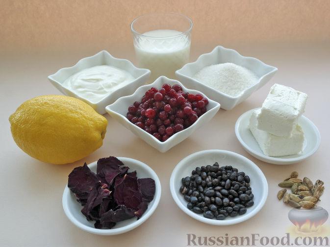 Фото приготовления рецепта: Смузи из творога с брусникой - шаг №1