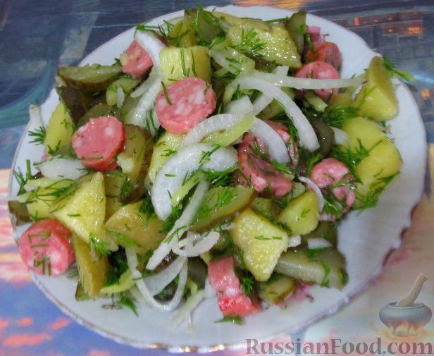 салат с капустой и огурцами солеными огурцами рецепт